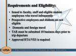 requirements and eligibility