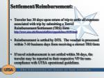 settlement reimbursement