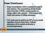 team travel cont