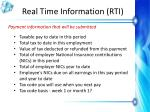 real time information rti12