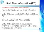 real time information rti15