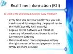 real time information rti7