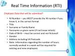 real time information rti9