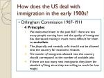 how does the us deal with immigration in the early 1900s