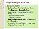 illegal immigration cont