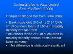 united states v first united security bank 20093