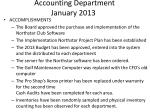 accounting department january 2013