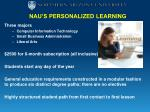 nau s personalized learning