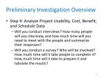 preliminary investigation overview8