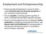employment and entrepreneurship1