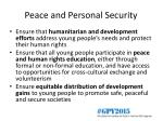 peace and personal security1