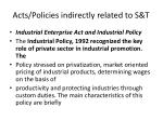 acts policies indirectly related to s t