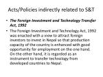 acts policies indirectly related to s t1