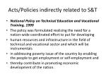acts policies indirectly related to s t2