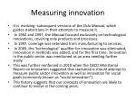 measuring innovation