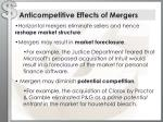 anticompetitive effects of mergers