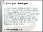 what type of merger