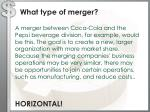 what type of merger1
