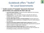 guidebook offers toolkit for local governments