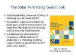 the solar permitting guidebook