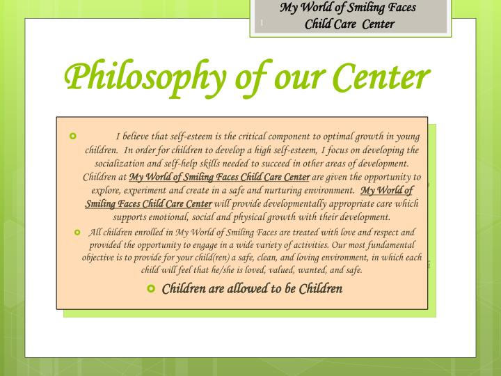 philosophy of our center n.