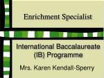 enrichment specialist