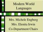 modern world languages