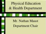 physical education health department