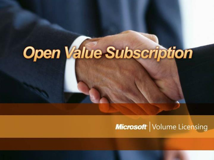 open value subscription n.