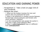 education and earning power