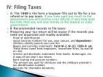 iv filing taxes