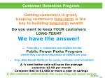 customer retention program