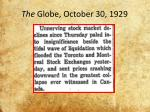 the globe october 30 1929