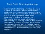 trade credit financing advantage