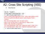 a2 cross site scripting xss5