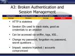a3 broken authentication and session management
