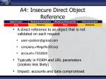 a4 insecure direct object reference