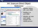 a4 insecure direct object reference1