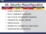 a6 security misconfiguration