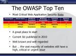 the owasp top ten
