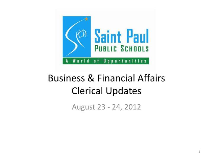business financial affairs clerical updates n.