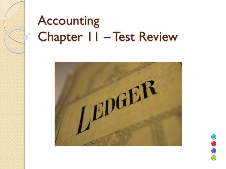 accounting chapter 11 test review n.