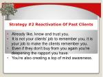 strategy 2 reactivation of past clients