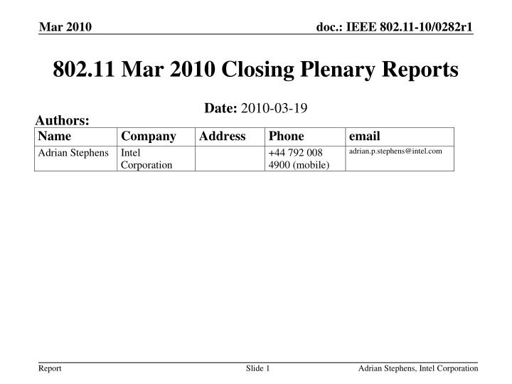 802 11 mar 2010 closing plenary reports n.