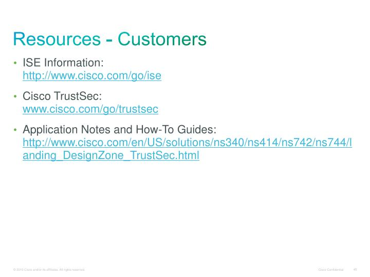 Resources - Customers