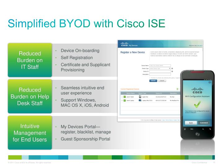 Simplified BYOD with Cisco ISE