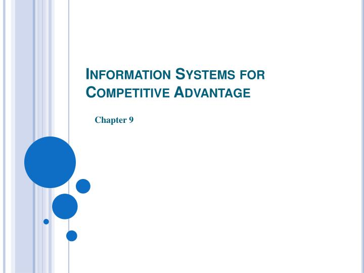 information systems for competitive advantage n.