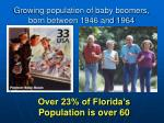 growing population of baby boomers born between 1946 and 1964