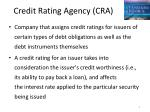 credit rating agency cra