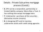 details private sub prime mortgage process contd